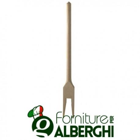 Forchetta a 2 punte in legno di faggio 25 cm Mestolame