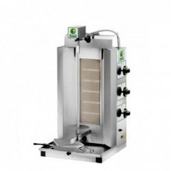 Gyros a gas 6 bruciatori – capacità carne 30 Kg.