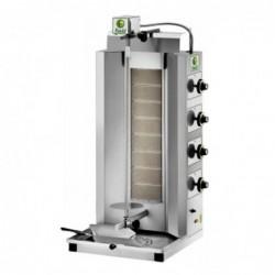 Gyros a gas 8 bruciatori – capacità carne 65 Kg.