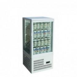 Armadio frigo Vetrina 4 lati refrigerato ventilata. H.cm. 930 – vers. da banco