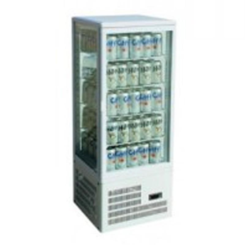 Vetrina frigo 4 lati refrigerato ventilata H.cm. 1150 – da banco