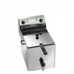 Friggitrice elettrica vasca singola 10 Lt con rubinetto di scarico – 6 Kw.