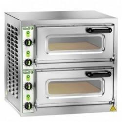 Forno pizza pizzeria elettrico doppia camera cm. 40x40x11h.  –  4,4 Kw.