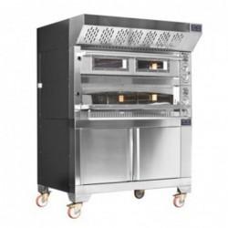 Forno pizza elettrico doppia camera cm. 105×70  –  14,4 Kw.