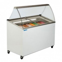 Vetrina Banco Frigo gelato 7 vaschette – Temp. -12°/-22°C