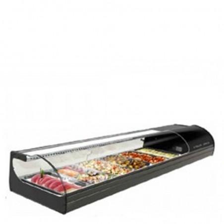 Vetrina Refrigerata da banco Sushi. Capacità 8 GN 1/3. Temp. +1°/+6°C. professionale