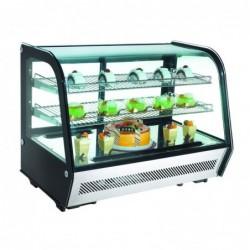 Espositore Vetrina refrigerata da banco con vetro curvo Lt.160