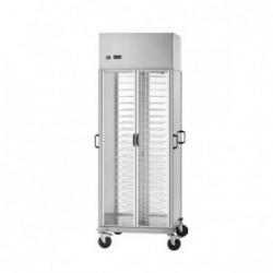Carrello portapiatti armadiato refrigerato – Capacità 88 piatti Ø 18/23
