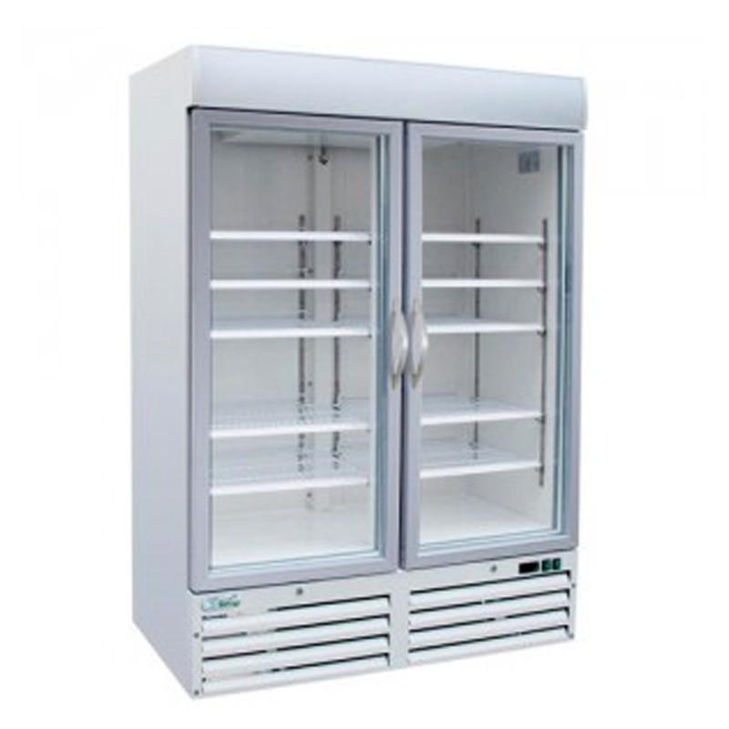 Armadio refrigerato con doppia porta a vetro – 1000 Lt.  •  Temp. +2°/+8°C. Pasticceria