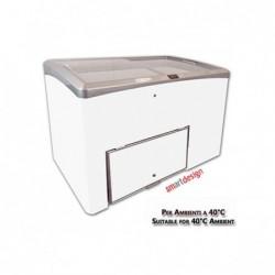 Vetrina Banco Frigo gelateria impulso per ambienti a 40°C