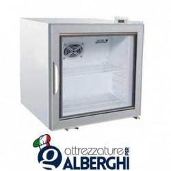 Armadio frigo refrigerato 68 Lt. in lamiera verniciata bianca porta vetro Temperatura +2°/+8°C