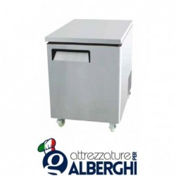 Tavolo Frigo Refrigerato 1 porta acciaio inox Temperatura +2°/+8°C dim.cm 69.8×76.2×92.7