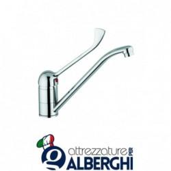 Miscelatore lavello Professionale canna 17 cm e leva acciaio inox cm. 20 per lavatoio
