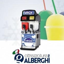 Granitore VFCB – Visual Frozen Carbonated Beverage – erogatore di granita sorbetto creme fredde 2 vasche 10+10 lt