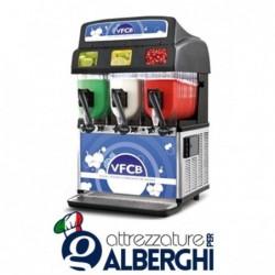 Granitore VFCB – Visual Frozen Carbonated Beverage – erogatore di granita sorbetto creme fredde 3 vasche 10+10+10 lt