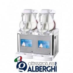 Erogatore di gelato soft serve frozen yogurt creme fredde sorbetto Granita GT-Touch 2 vasche 5+5 lt
