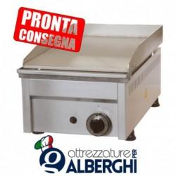 Fry Top a gas in acciaio inox Piastra liscia 330x450x275h mm