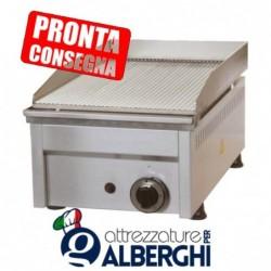Fry Top a gas in acciaio inox Piastra rigata 330x450x275h mm