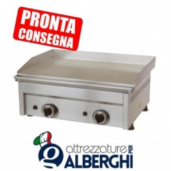 Fry Top a gas in acciaio inox Piastra liscia 600x450x275h mm