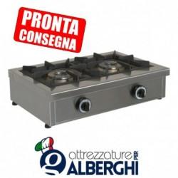 Fornellone a gas struttura in acciaio inox 680x490x210h mm