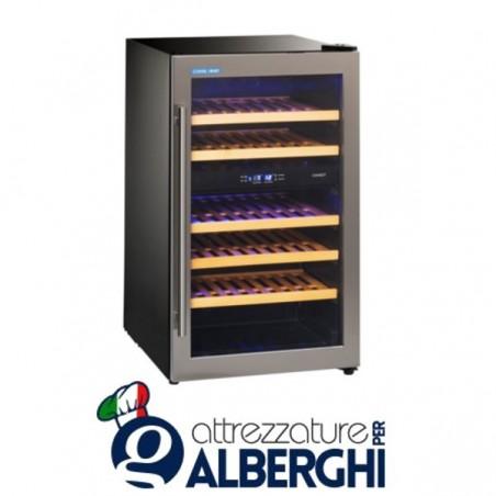 Vetrina refrigerata - Cantina vino da incasso capacità 10, 14, 38 bottiglie, temperatura +5/+10°C +10/+18°C, Dimensioni 49