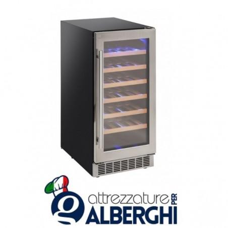 Vetrina refrigerata - Cantina vino da incasso capacità 6, 12, 34 bottiglie, temperatura +5/+18°C, Dimensioni 380x602x726h