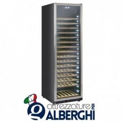 Vetrina refrigerata – Cantina vino free standing capacità 76, 185, 218 bottiglie, temperatura +5/+18°C, Dimensioni 598x685