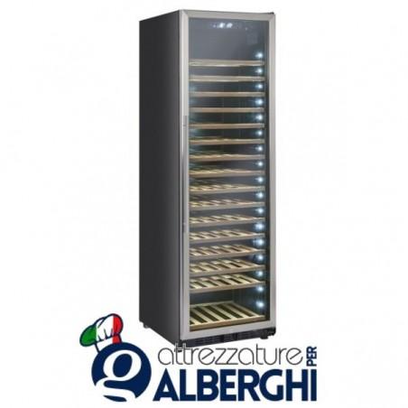 Vetrina refrigerata - Cantina vino free standing capacità 76, 185, 218 bottiglie, temperatura +5/+18°C, Dimensioni 598x685