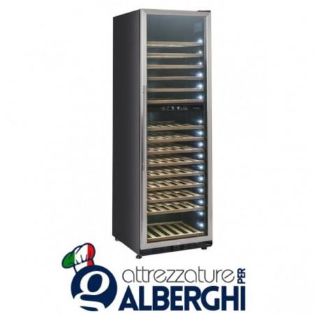 Vetrina refrigerata - Cantina vino free standing capacità 70, 174, 208 bottiglie, temperatura +5/+10 +10/+18°C, Dimensioni