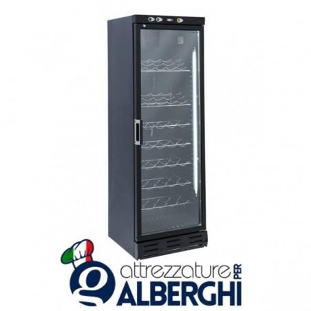 Vetrina refrigerata - Cantina vino free standing capacità 35 bottiglie, temperatura +7+20°C, Dimensioni 600x624x1863h mm