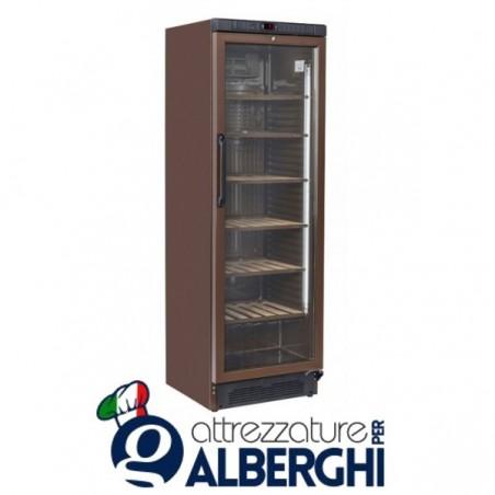 Vetrina refrigerata - Cantina vino free standing capacità 65 bottiglie, temperatura +7+18°C, Dimensioni 595x460x1840h mm
