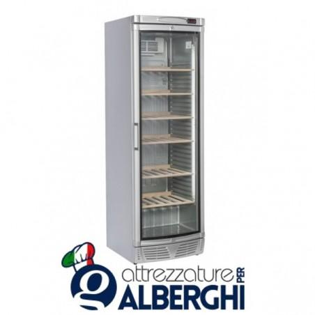 Vetrina refrigerata - Cantina vino free standing capacità 65 bottiglie, temperatura +7+18°C, Dimensioni 595x640x1840h mm
