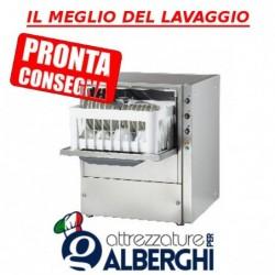 Lavabicchieri lavatazze professionale in acciaio inox cestello 35×35 cm H utile bicchiere 180 mm