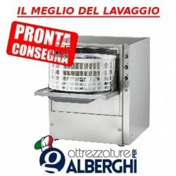 Lavabicchieri lavatazze professionale in acciaio inox cestello ø36 cm H utile bicchiere 180 mm