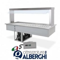 Drop In refrigerato da incasso a LED – Temp. +4/+10°C – Parafiato mobile – GN1/1