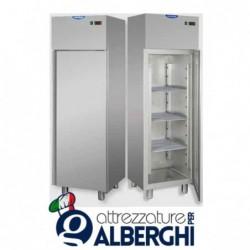 Armadio congelatore monoblocco in Acciaio Inox a bassa temperatura -18/-22°C 400 litri