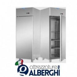Armadio congelatore 600 litri monoblocco in Acciaio Inox temperatura -18/-22°C