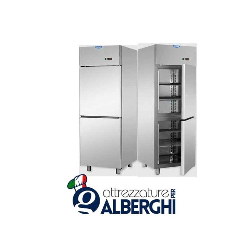Armadio refrigerato 600 litri monoblocco in Acciaio Inox con 2 sportelli temperatura 0/+10°C
