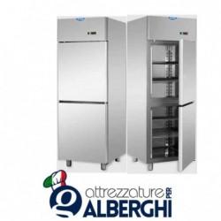 Armadio congelatore 600 litri monoblocco in Acciaio Inox con 2 sportelli temperatura -18/-22°C