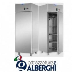 Armadio refrigerato statico 600 litri monoblocco in Acciaio Inox temperatura 0/+10°C