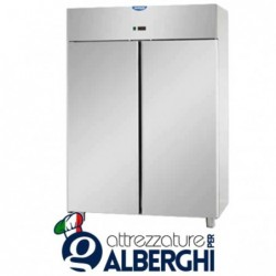Armadio refrigerato 1200 litri monoblocco in Acciaio Inox temperatura 0/+10°C con 2 porte