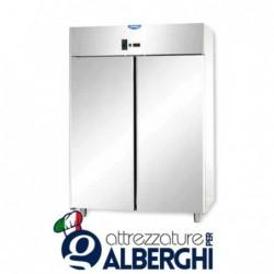 Armadio refrigerato statico 1200 litri monoblocco in Acciaio Inox temperatura 0/+10°C con 2 porte