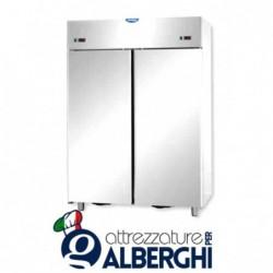 Armadio combinato congelatore 1200 litri monoblocco in Acciaio Inox doppia temperatura  BT+BT -18/-22°C con 2 porte