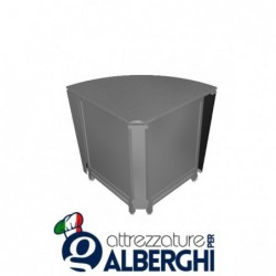Banco bar neutro acciaio inox angolo basso esterno 90°