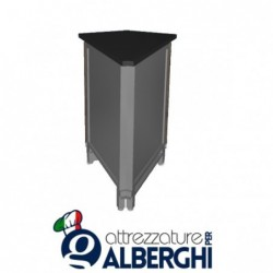 Banco bar neutro acciaio inox angolo esterno 45° alto