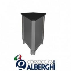 Banco bar neutro acciaio inox angolo esterno 45° basso
