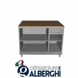 Banco bar cassa acciaio inox con cassetto