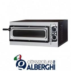 Forno elettrico meccanico per pizzeria – pizza ø32 cm – dimensioni esterne 56.8x50x28 cm con vetro
