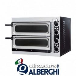 Forno elettrico meccanico per pizzeria – pizza ø32 cm – dimensioni esterne 56.8x50x43 cm con Vetro
