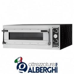 Forno Pizzeria, Fornaio, Panificio professionale elettrico meccanico per Pane, Pizza  – 3 teglie – 6 pizze ø35 cm &#